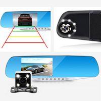 Wholesale car dvd Newest Night Vision Dvr detector Camera Blue Review Mirror DVR Digital Video Recorder Auto Camcorder Dash Cam FHD