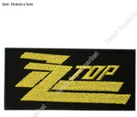 Wholesale ZZ TOP Gold Music Band Iron On Sew On Patch Tshirt TRANSFER MOTIF APPLIQUE Rock Punk Badge