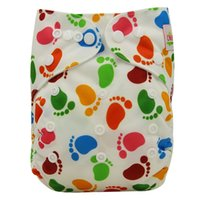 baby print material - Ohbabyka Trendy Print Pocket Diaper Reusable Waterproof PUL Baby Cloth Diaper Nappy Cover Strong Absorbent Material Baby Shower