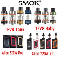 Wholesale Authentic Smok TFV8 TFV8 Baby atomizer TFV8 Cloud Beast Tank Original SmokTech Alien W Starter Kit Alien W TC Box Mod Genuine