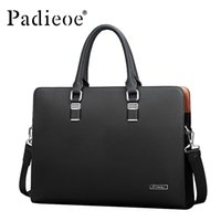 best briefcases - Best quality genuine real cow leather messenger bags luxury business men s briefcases bag black blue leather handbags man BAG