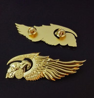 Wholesale New Arrived Hells Angels Badges pin for Clothing jacket Motor Skull badge pin Vest metal biker badges pins