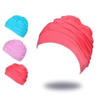 Mujeres Deportes Gorras de Natación Estiramiento elástico Swim Pool Hat Gorra de natación de alta calidad Nylon sombreros de baño Gorras para hombres Mujeres Adultos