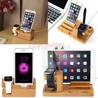 apple ipad cradle - in Bamboo Wood Charge Holder Docking Station Cradle Bracket For Apple Watch iPhone iPad