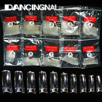 Wholesale Acrylic Clear False Nails Half Tips Nail Art French Beauty Tools Different Size