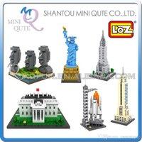 arc models - DHL Mini Qute LOZ world architecture Arc de Triomphe Athena plastic building block brick model Action Figures educational toy