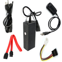 Connectors & Plugs   Free DHL Reliable New USB 2.0 to IDE SATA S-ATA 2.5 3.5 Hard Drive HD HDD Converter Adapter Cable
