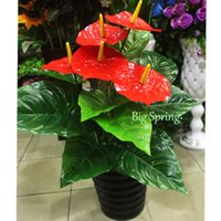 artificial tropical plants - Fake Tree Artificial Plant Man made Tropical Environmentally Nearly Natural Silk Large Leaves Removement Christmas Home Garden DIY Decor NEW