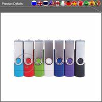 Wholesale Rotate U disk Multicolor USB Flash Drive GB GB GB GB pen drive memory stick