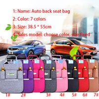 Wholesale Insulation Work Style Auto Car Seat Organizer Sundries Holder Multi Pocket Travel Storage Bag Hanger Backseat Organizing Box XL A56