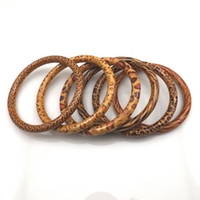 Asian & East Indian asian painting - 7 mm Painted Wood Bangles Guaranteed Mixed Design Leopard Bangle For Promotion