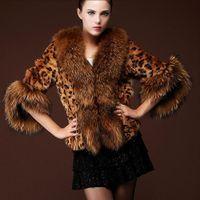 Wholesale Faux Fur Coat For Woman Autumn Winter Leopard Printing Fashion Female Warm Coat Outwears