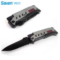 Camp Tools best starter car - Survival Knife Rescue Survival Knife Best in Tactical Pocket Folding Knife with LED Light Magnesium Fire Starter Camping Hunting