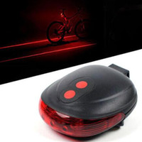 Wholesale Bike Lights Laser LED Cycling Bicycle Bike Taillight Bicycle Rear Lamp Warning Lamp Flash Alarm Light