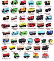 Wholesale Wooden Small Trains Cartoon Toys Styles kids wooden Toys Trains Friends Wooden Trains Car Toys