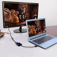 Haute qualité HDMI vers VGA adaptateur convertisseur câble adaptateur numérique à analogique vidéo câble audio pour ordinateur PC tablette de bureau
