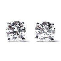 Wholesale 14K White Gold Round Diamond Stud Earrings cttw