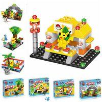 Wholesale Poke Mon Go Building Blocks Pikachu Squirtle Building Blocks Poke Model Toys Puzzle Action Figure Minifigure DIY Diamond Brick Toys F11