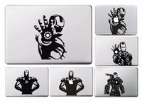 Wholesale New The Avengers Iron Man Sticker for Macbook Air Pro Retina Decal Laptop Skins Versatile Vinyl Pegatinas