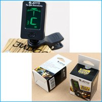 Wholesale JOYO LCD Clip on Guitar Tuner Bass tuner violin tuner ukuele Chromatic universal Degree Rotatable sensitive