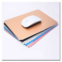 Wholesale Arc edge Aluminum Metal Game Mouse Pad Computer Laptop Gaming Mousepad for Sc2 Wow Dota2 LOL Cs Play
