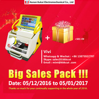 Wholesale Amazing promotion price for New arrived computerized automatic SEC E9 Key cutting machine for high security and laser key cutting