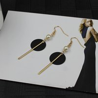Wholesale simple pearl earrings for women popular fashion and graceful stud plated jewelry
