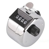 Wholesale Stainless Digital Chrome Hand Held Tally Clicker Counter Digit Number Clicker Golf Digital Chrome Hand Tally Clicker