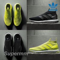 ace lighted - Adidas Ace PureControl Ultra Boost Solar Yellow Black White Men Women Running Shoes Sneakers Originals Ace Pure Control Sports Shoes