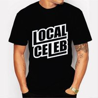 Wholesale Fashion local celeb Printed Men black T shirt Short Sleeve Casual t shirt Hipster Fractal Pattern tees Cool Tops