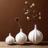 Wholesale Pure Handmade Porcelain Three Size Flower Vases Interior Design Pot Luxury Modern Style Decorative Ceramic Art Vase Home Déc