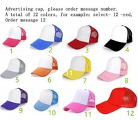 advertising caps - Advertising Cap Customized Volunteer Hat Customized Work Composite Sponge Net Cap Printing Print logo