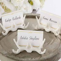 antler table - NEW ARRIVAL White Resin Antler Place Card Holder With Wedding Decoration Place Cards Table Card