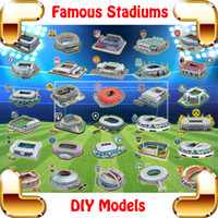 Wholesale New Year Gift Soccer Stadiums Series D Puzzles Model Construction Building Famous Football Pitch Collection House Decoration Fans DIY Toys