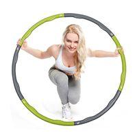Wholesale Home Fitness HULA Hoop Plastic Abdominal Health Foam Massage Hula Hoop Weight Loss Equipment Thin Waist