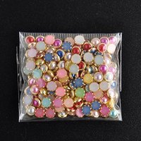 Wholesale mm D DIY Nail Art Tip Mixed Colors Nail Rhinestones Beauty Nail Decoration Glitter NA1049
