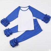venda por atacado clothing made in china-Atacado Icing Ruffle Camisa Boutique 100% Algodão Orgânico Bebê meninas meninas feitas na China Yiwu Market