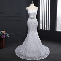 Wholesale Vintage Lace Wedding Dress Off Shoulder Sleeveless Bridal Gowns From China Mermaid Lace Up Vestido De Noiva Chapel Train