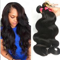 al por mayor manojos ondulado de la armadura virginal-Grace Hair Products Brazillian Body Wave Mink Virgin Tela de pelo al por mayor 8a grado brasileño húmedo y ondulado brasileño pelo conjuntos de mezcla de longitud