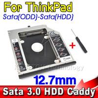 Wholesale SATA to Sata nd HDD Caddy mm SSD Case Enclosure Optibay for IBM Lenovo Thinkpad R400 R500 T420 T430 T520