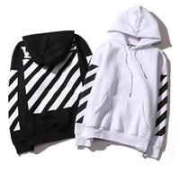 Wholesale 2016 mens pullover stripe offset print off white hoodies fleece Sweatshirts brand HBA Vision religion painting VIRGIL ABLOH