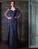 Wholesale Rami Kadi Sequined Evening Dresses For Dubai Arabic Saudi Arabian Womens Ladies Special Occasions Cheap Custom Made