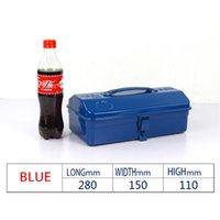Wholesale Hardware Tool Box iron in the trumpet multi purpose metal suitcase metal maintenance toolbox home