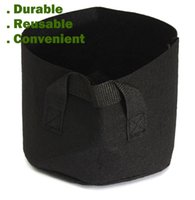 bag green fabric - Round Non woven Fabric Pots Plant Pouch Root Container Grow Bag Aeration Flower Pots Container Garden Planters