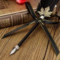 Grossiste Vintage Antique Mode Quill Goose Plume Black Dip Pen Styles Set Avec Bouteille D'encre Cadeau De Mariage Papeterie Novelty