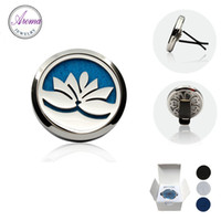 air free natural - Aroma Jewelry L Stainless Steel Car Air Freshener Sanitizer Natural Vent Diffuser With Retail Packaging Box Free Pads C