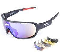 bicycle boxes - NEW Lens Polarized Bicycle Goggles POC Style Outdoor Sunglasses Eyewear UV400 Protective Bicycle Glasses with Retail box and Zipper Case