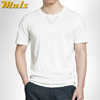 best knitting patterns - Best T shirt men sweater simple style cotton knitted breathable summer short Tees shirt men hollow pattern Muls brand MS16038