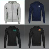 Men ash clothing - 2016 Real Madrid white ash shoulder sweater tracksuit Sportswear training Suits men s Clothes Trackring suits Male Hoodies mix