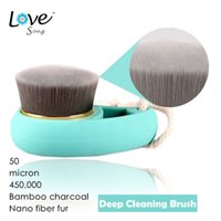 Wholesale Deep Cleansing Soft Wash face brush Bamboo charcoal Nano fiber fur brush Skin Care Remover Acne Treatment Cleaning Tool